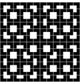Black geometric pattern on white background