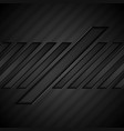 black tech geometric abstract background vector image vector image