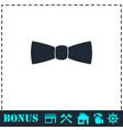 bow tie icon flat vector image vector image