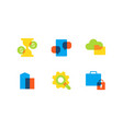 business and finance - flat design style icons set vector image vector image