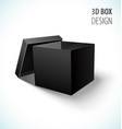 cardboard black box icon with open lid vector image