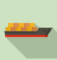cargo ship icon flat style vector image vector image