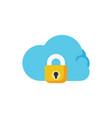 cloud lock icon security vector image vector image