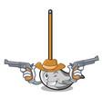 cowboy mop character cartoon style vector image