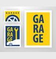 design for decoration of garage vector image vector image