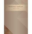 diamond template vector image vector image