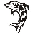 dolphin tribal vector image vector image