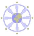 Earth globe set 008 vector image vector image