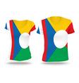 Flag shirt design of Reunion vector image vector image