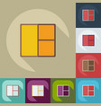 flat modern design with shadow icons window vector image vector image