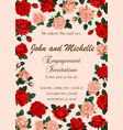 flowers invitation or save the date wedding vector image vector image