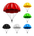 flying parachute isolated on white vector image vector image