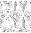 Geometric colibri seamless pattern vector image
