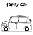 Hand draw of family car transport vector image vector image