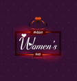 happy womens design element with purple pattern vector image