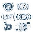 hud interface radar icon set vector image