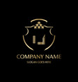 ij letter initial with royal luxury logo template vector image vector image