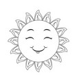 isolated happy sun face vector image