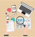 job search design vector image