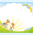 kids background for your design vector image