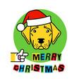 labrador in christmas hat retriever dog vector image