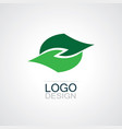 leaf abstract logo vector image vector image