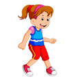 little girl dancing alone vector image vector image