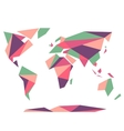 Low polygonal origami style world map Abstract vector image