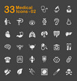 medical and health icons vector image vector image