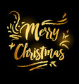 merry christmas and happy new year 2019 gold on vector image vector image