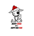 merry crisis and happy new fear evil santa vector image
