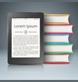 paper book digital reader - business infographic vector image vector image