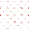 passenger icons pattern seamless white background vector image vector image