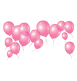 pink balloons on white background vector image vector image