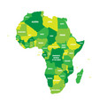 political map of africa in four shades of green vector image vector image