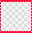 red and white square border made of animal paws vector image vector image