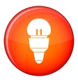 Reflector bulb icon flat style