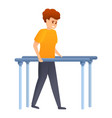 rehabilitation legs exercise icon cartoon style vector image vector image