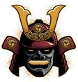 samurai armor helmet vector image vector image