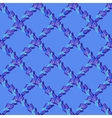 Seamless blue lattice peacock feather vector image vector image