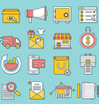 Set of business icons Flat line style - part 1 vector image