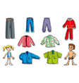 set of children clothes vector image vector image