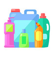 set plastic containers for storing liquid vector image