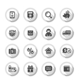 Shopping flat icons set 04 vector image
