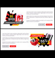shopping products sellout 55 off price banner vector image vector image