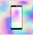 smartphone on gradient background mobile phone vector image vector image