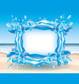 splash of water vector image vector image