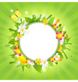Summer Poster With Flowers vector image vector image