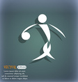 Summer sports basketball icon On the blue-green vector image vector image