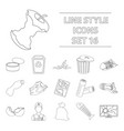 trash and garbage set icons in outline style big vector image vector image